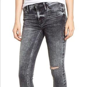 Hudson Nico Raw Hem Crop Skinny Raw Edge Jeans